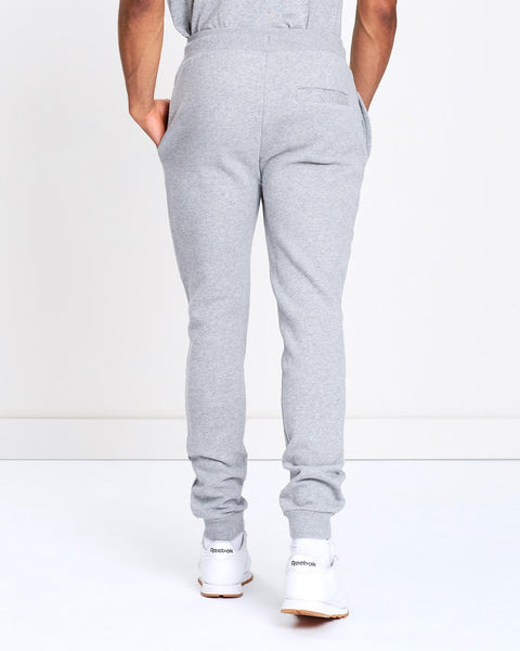 ELLESSE: HEATHER GRAY LOGO JOGGER SWEATPANT