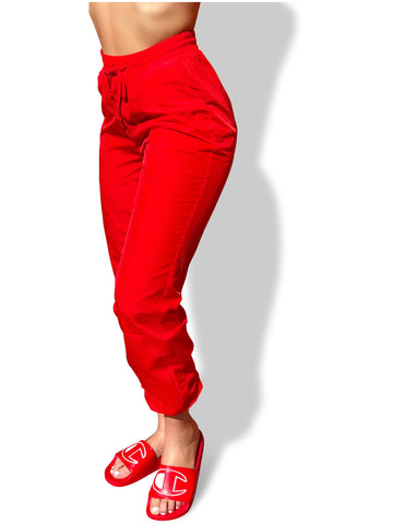 8586: WINDBREAKER NYLON JOGGER PANTS