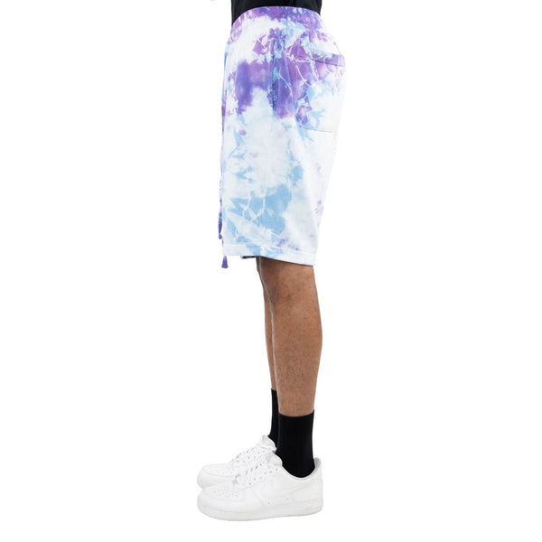 EPTM TIE DYE BLUE/PURPLE DRAWSTRING SHORTS - 8586