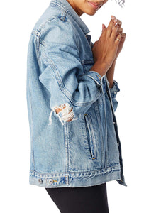 AGOLDE: PRESTON OVERSIZED DENIM JACKET - 85 86 eightyfiveightysix