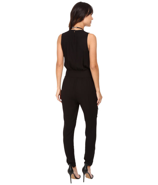 JACK BY BB DAKOTA: CORINTH BLACK SLEEVELESS JUMPSUIT - 85 86 eightyfiveightysix