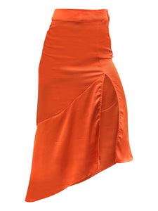 FREE PEOPLE HOT ORANGE LOLA SKIRT - 8586