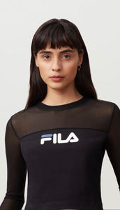 FILA HERITAGE: CAROLE LONG SLEEVE MESH TOP