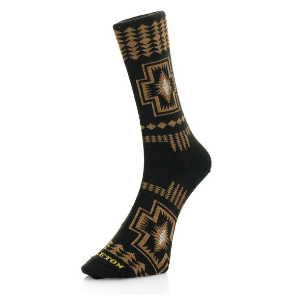 PENDLETON HARDING BLACK WOOL SOCKS - 8586