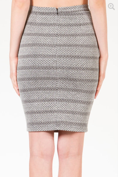 SHADES OF GREY : MOSAIC KNIT PENCIL SKIRT - 85 86 eightyfiveightysix
