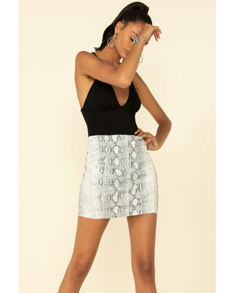 free people womens mod snakeprint miniskirt - 8586