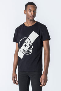 CHEAP MONDAY: STANDARD SKULL STRIPE TEE - 85 86 eightyfiveightysix