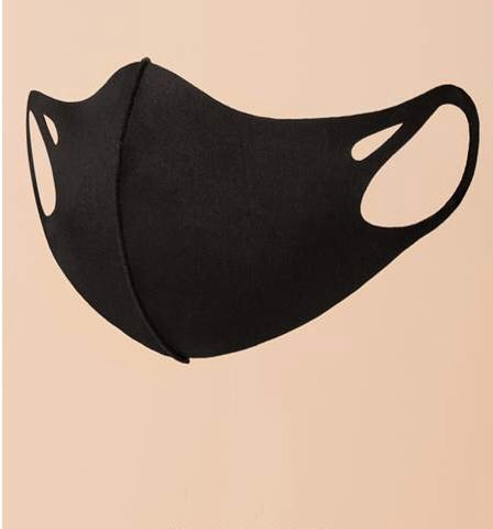 BLACK PROTECTIVE FACE MASK BLACK UNISEX - 8586