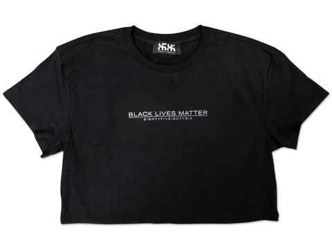 black lives matter womens cropped tee - 8586