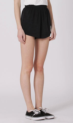 wonens black lounge shorts - 8586