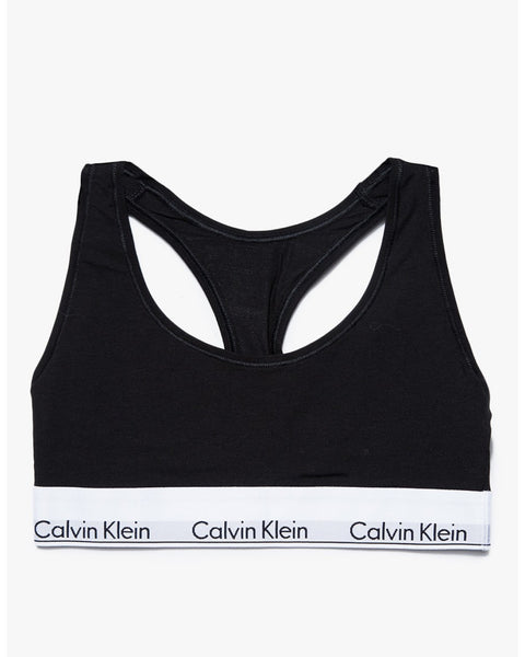 CALVIN KLEIN : COTTON BRALETTE TOP - BLACK - 85 86 eightyfiveightysix