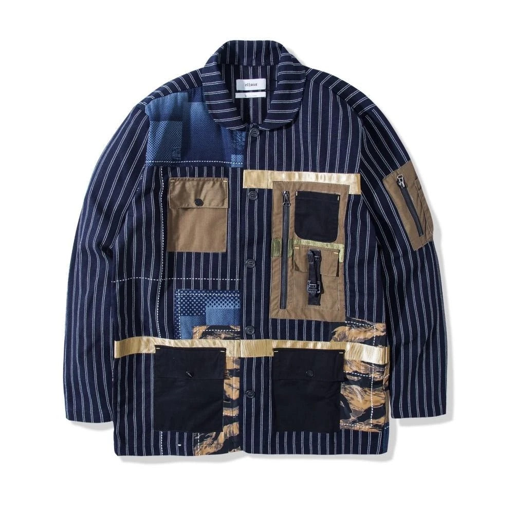 elhaus nomad coverall striped jacket - 8586