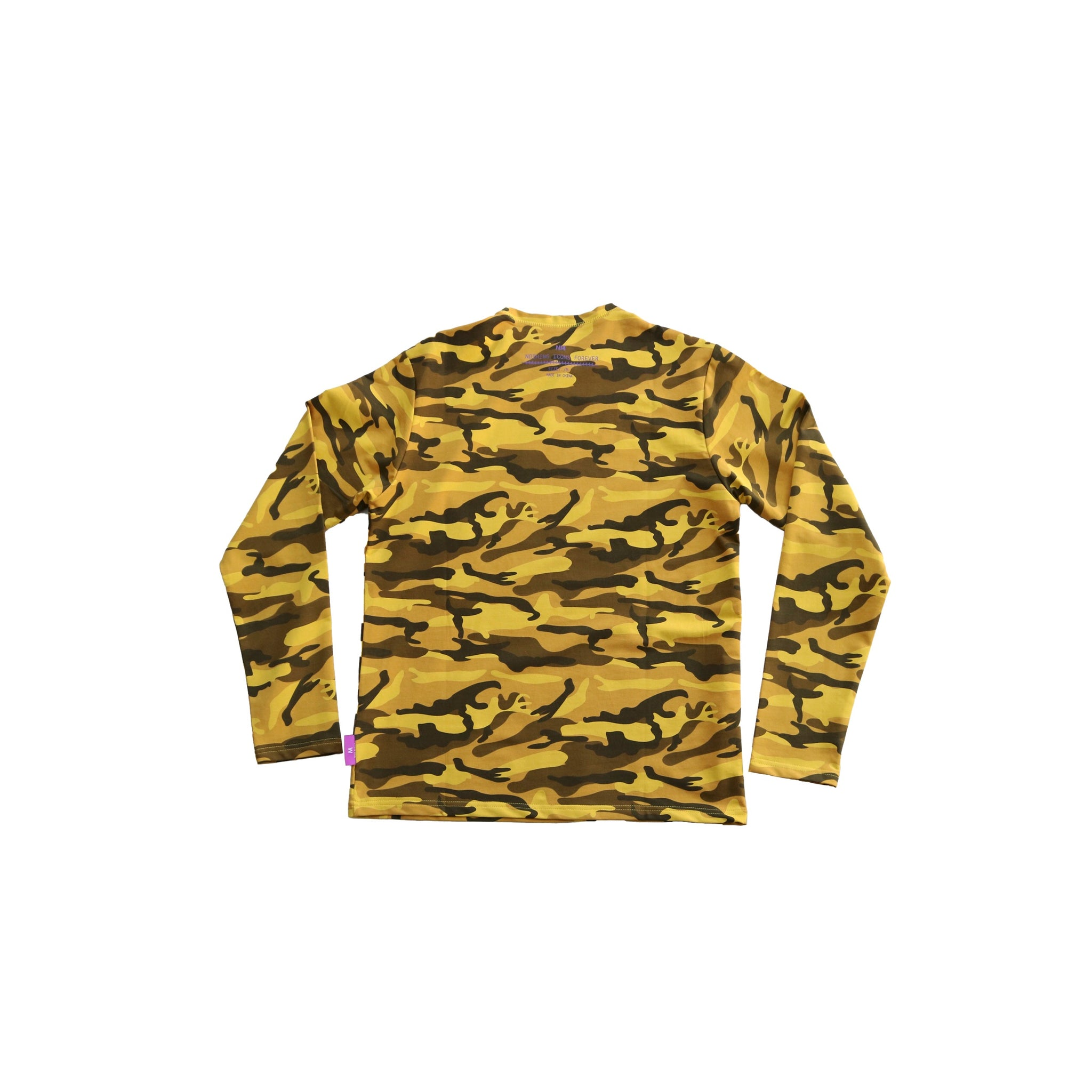 mens yellow camo long sleeve t-shirt - 8586