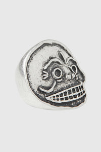CHEAP MONDAY: MAD SKULL SILVER RING - 85 86 eightyfiveightysix