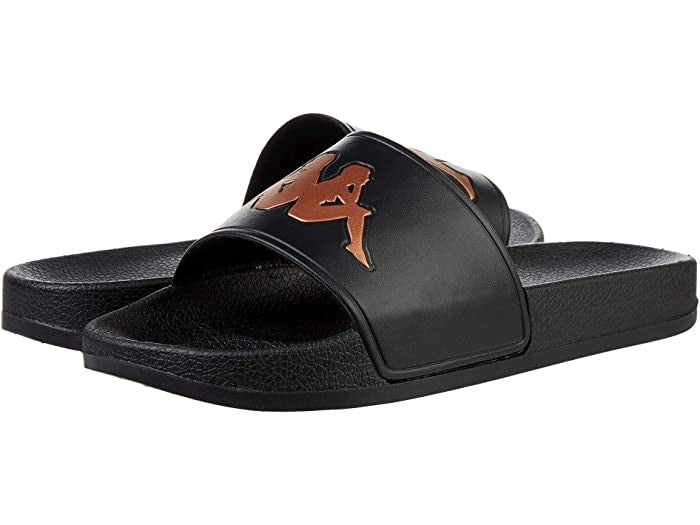 KAPPA: AUTHENTIC ADAM 2 BLACK BRONZE SLIDE SANDLE SHOES