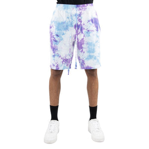 eptm mens tie dye purple shorts - 8586