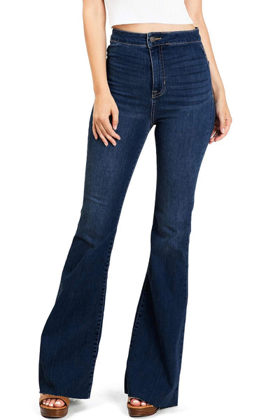 CELLO HIGH RISE BELL BOTTOM JEANS - 8586