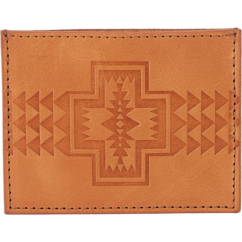 pendleton leather slim card case tan wallet - 8586