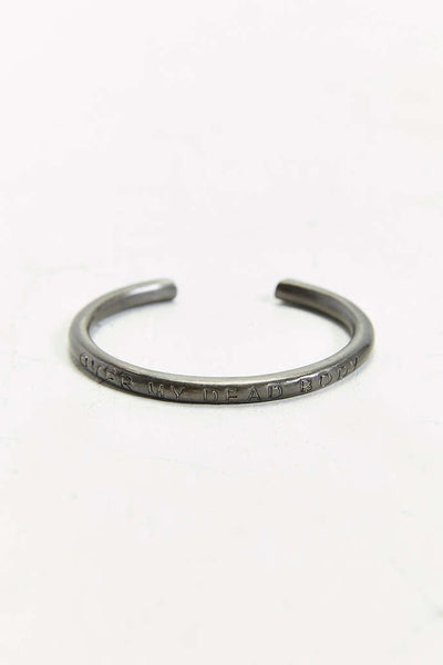 CHEAP MONDAY : ENGRAVED CUFF BRACELET - 85 86 eightyfiveightysix