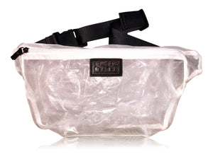 8586: TRANSPARENT MESH CROSSBODY BAG