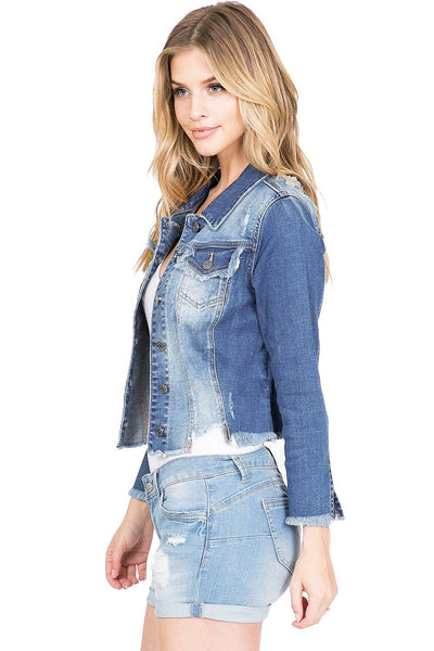 CELLO CROP DENIM JACKET - 8586