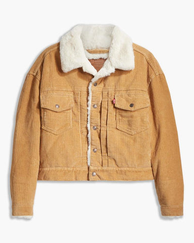LEVIS NEW HERITAGE CORD TRUCKER ICED COFFEE WARM 10 - 8586