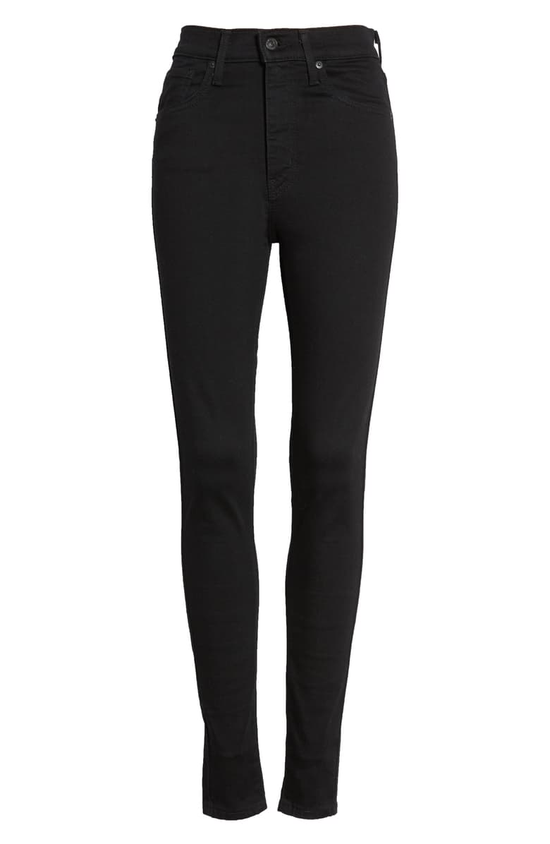 levis mile high skinny jeans galaxy black - 8586