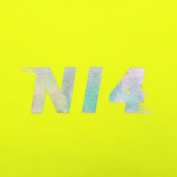 NI4: NEON YELLOW REFLECTIVE TEE