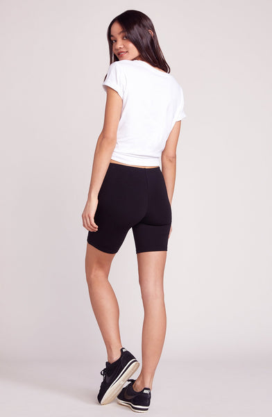 BB DAKOTA: SPIN CITY BLACK BIKER SHORTS
