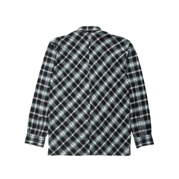 PUBLISH: ELDERED FLANNEL BUTTON UP SHIRT - 85 86 eightyfiveightysix