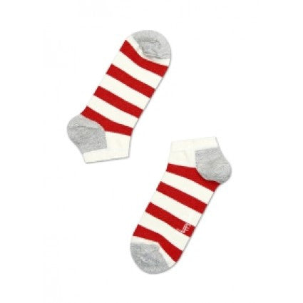 HAPPY SOCKS : RED STRIPE LOW SOCK - 85 86 eightyfiveightysix