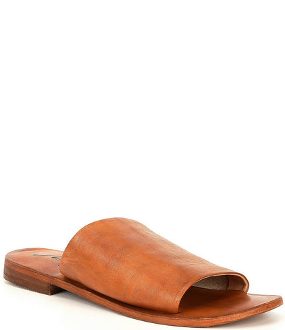 FREE PEOPLE WOMENS VICENTE LEATHER SLIDE SANDAL - 8586