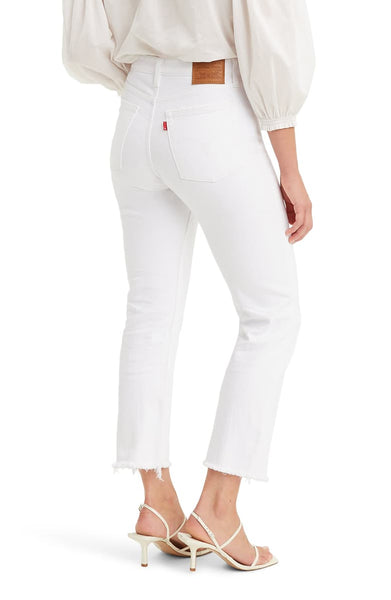 LEVIS WHITE WEDGIE HIGH WAISTED JEANS - 8586