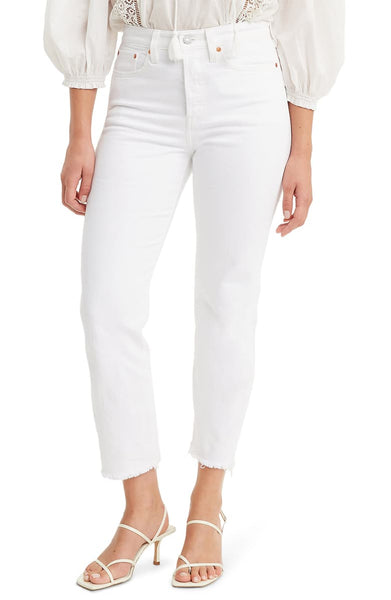 LEVIS PREMIUM WEDGIE COLD FEET WHITE JEANS - 8586