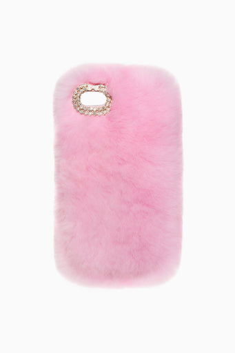BABY PINK FUR IPHONE CASE