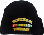 Vietnam Veteran Ski Hat Knitted Winter Beanie Cuffed Military Skull Cap