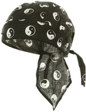 Yin Yang Doo Rag Ying Chinese Asian Headwrap Trucker Durag Skull Cap Cotton Sporty Motorcycle Hat