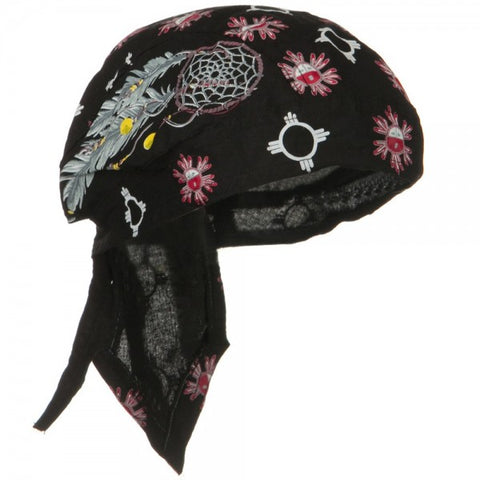CLEARANCE Dream Catcher Native American Doo Rag Indian Skull Cap Headwrap with Feathers