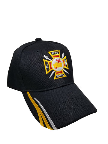 Knights Templar Mason Baseball Cap Freemason Adjustable Black Lodge Hat Mens