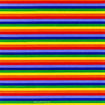 Rainbow Stripes Bandana 100% Cotton Red Purple Blue Yellow Green Stripes LGBT Pride