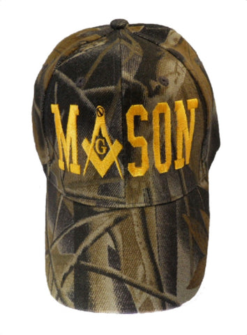 Mason Hat Camouflage Baseball Cap with Masonic Logo Camo Freemasons Shriners Prince Hall Lodge Headwear