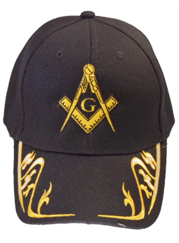 Mason Hat Black Baseball Cap with Masonic Logo Freemasons Shriners Prince Hall Lodge Headwear
