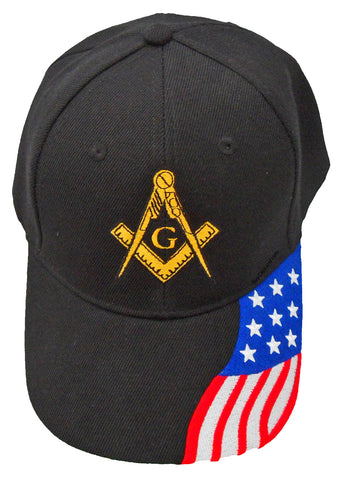Mason Baseball Cap Masonic Logo Hat American Flag Freemasons Shriners Prince Hall Lodge Headwear