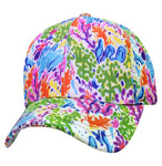 Coral Reef Baseball Cap Nature Hippie Hat Fun Woodstock Rainbow Hippy 60s Colorful Hi-Vis