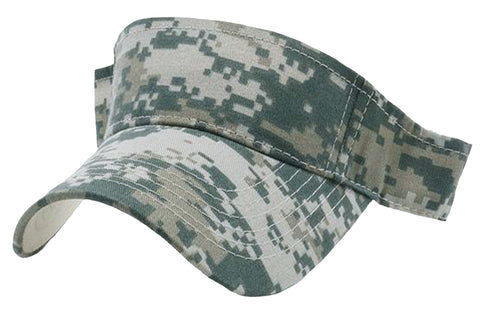 Camouflage Golf Visor Hunting Visors Military ACU Digital Digi Camo