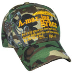 Christian Baseball Cap, Amazing Grace, Camouflage Religious Hat Adjustable Embroidered