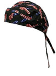 American Flag Patriotic Headwrap Ribbon Doo Rag Durag Skull Cap Cotton Motorcycle Dorag