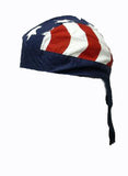 American Flag Patriotic Headwrap Doo Rag Stars and Stripes Durag Skull Cap Cotton Sporty Motorcycle Hat