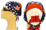 American Flag Patriotic Headwrap Doo Rag United States of America Durag Skull Cap Cotton Sporty Motorcycle Hat