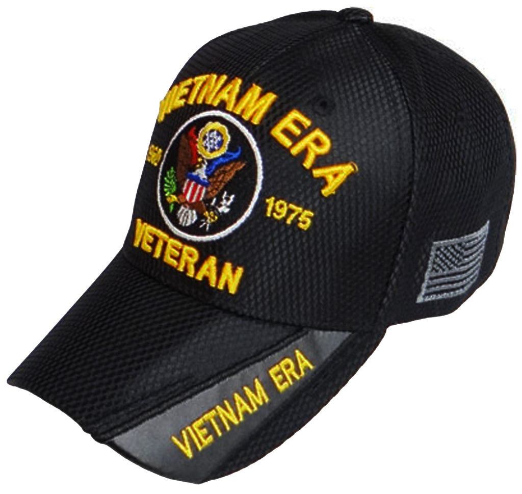 c3bad924c7b VIETNAM ERA VETERAN BLACK BASEBALL CAP EMBROIDERED HAT ADJUSTABLE STRA –  Buy Caps and Hats